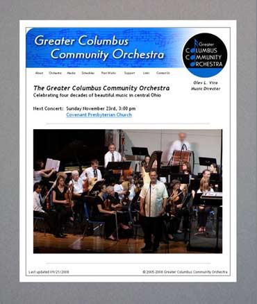 Greater Columbus Community Orchestra web site