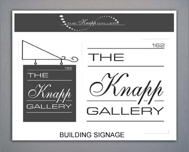 The Knapp Gallery signage