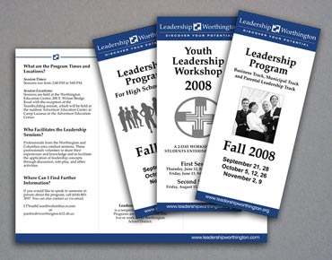 Leadership Worthington program brochures.
