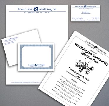 Leadership Worthington print materials