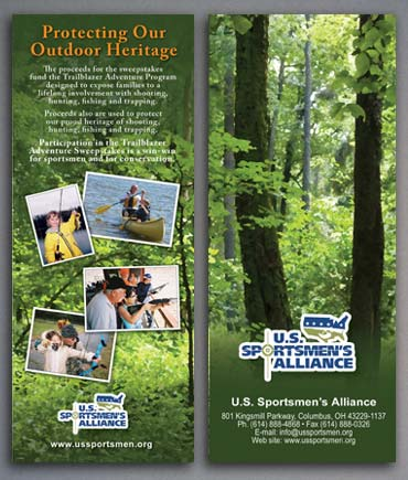 Sweepstakes brochure panels