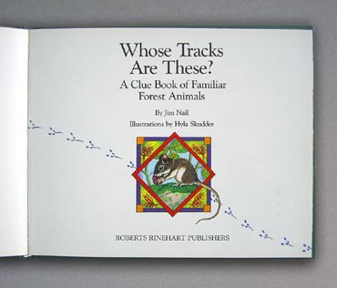 Whose Tracks are These? - title page
