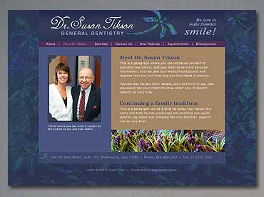 The Meet Dr. Tikson page of the new Tikson website.