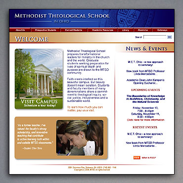 New Methodist Theological School in Ohio home page