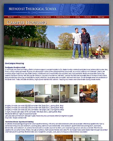 The Campus Housing page.